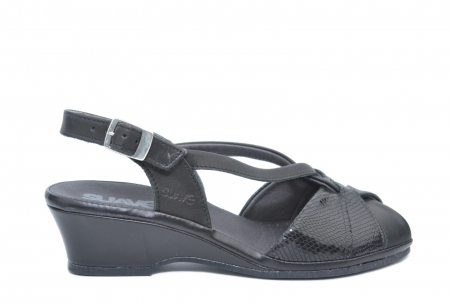 Sandale Piele Naturala Negre Lavi0