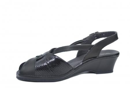 Sandale Piele Naturala Negre Lavi2