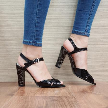 Sandale Dama Piele Naturala Negre Ozana D024250