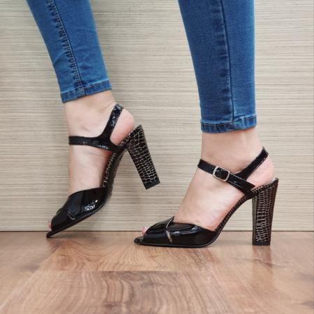 Sandale Dama Piele Naturala Negre Ozana D024251