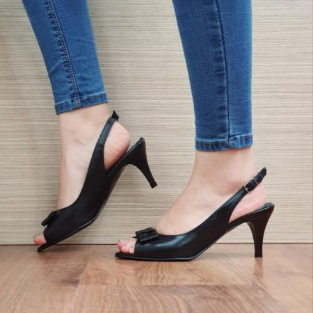 Sandale Dama Piele Naturala Negre Virana D024271
