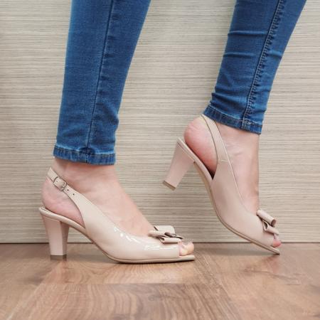 Sandale Dama Piele Naturala Nude Katarina D02430 [0]