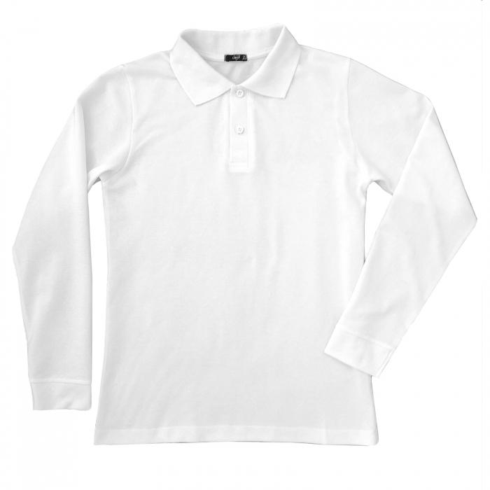 Bluza polo alba pentru scoala 0
