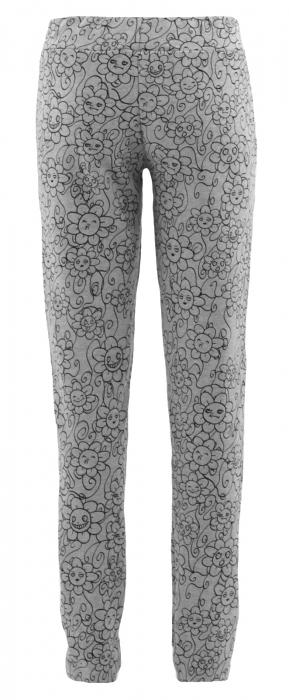 Pantalon Dama LAZO Gri cu imprimeu negru 1