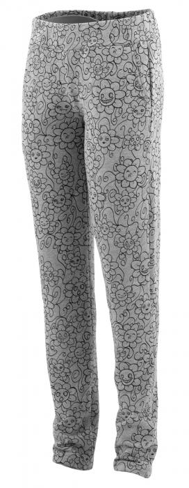 Pantalon Dama LAZO Gri cu imprimeu negru 2