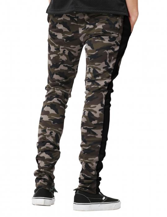 Pantaloni Bărbătești LAZO CAMOUFLAGE TRACK PANTS,Black 2
