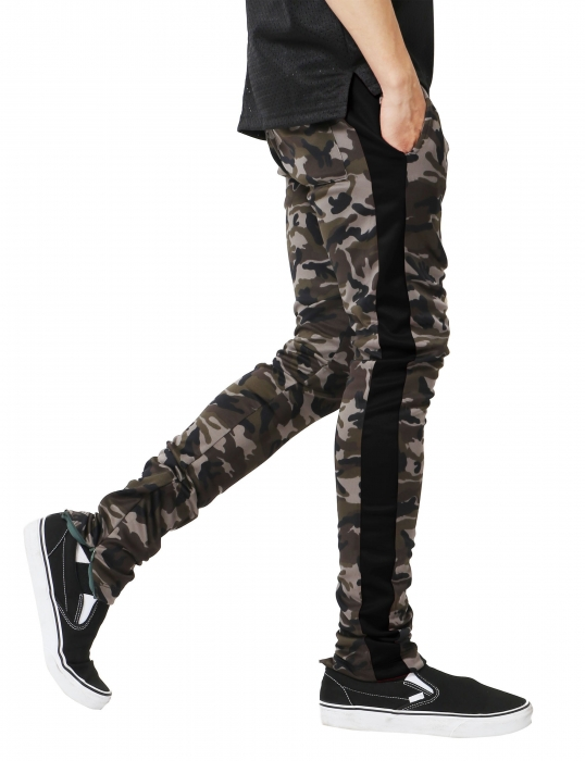 Pantaloni Bărbătești LAZO CAMOUFLAGE TRACK PANTS,Black 1
