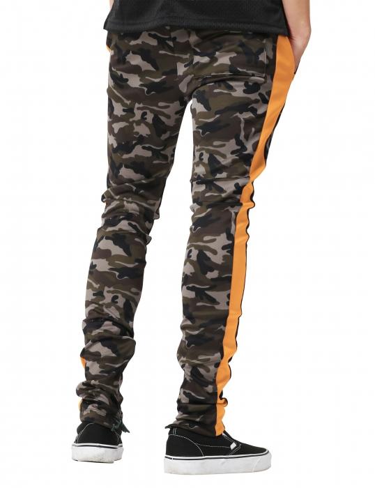 Pantaloni Bărbătești LAZO CAMOUFLAGE TRACK PANTS, Orange 3