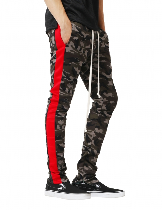 Pantaloni Bărbătești LAZO CAMOUFLAGE TRACK PANTS, Red 1
