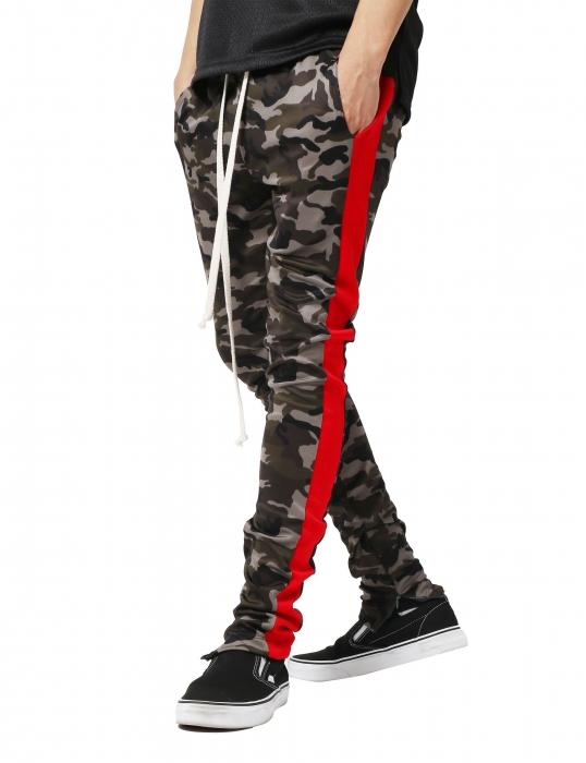 Pantaloni Bărbătești LAZO CAMOUFLAGE TRACK PANTS, Red 0