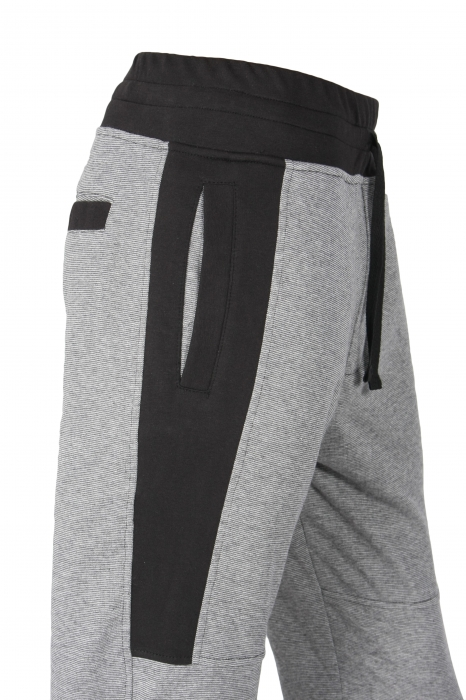 Pantalon Bărbați LAZO TRACK PANTS GNJ Gri cu Negru 3