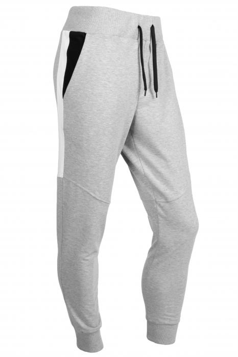 Pantaloni barbati - Gri cu negru 2