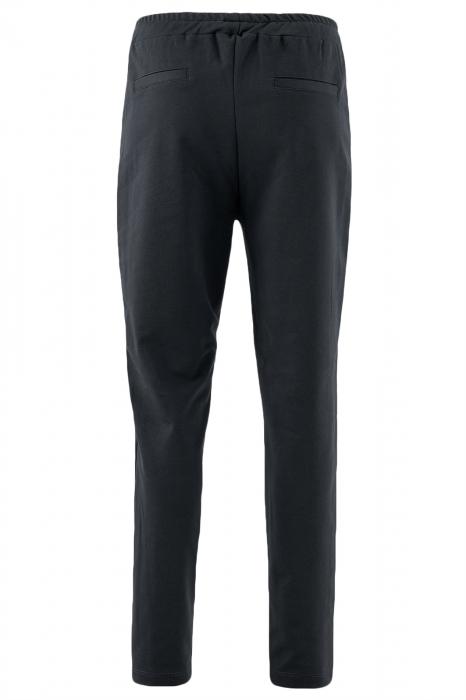 Pantalon dama negru cu dunga verde 2