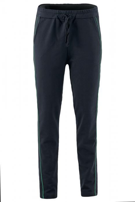 Pantaloni damă, LAZO LINE, Negru cu verde 1