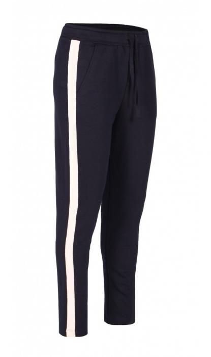 Pantaloni Damă LAZO LINE, Bleumarin cu Roz pal 0