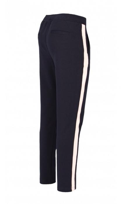 Pantaloni Damă LAZO LINE, Bleumarin cu Roz pal 1