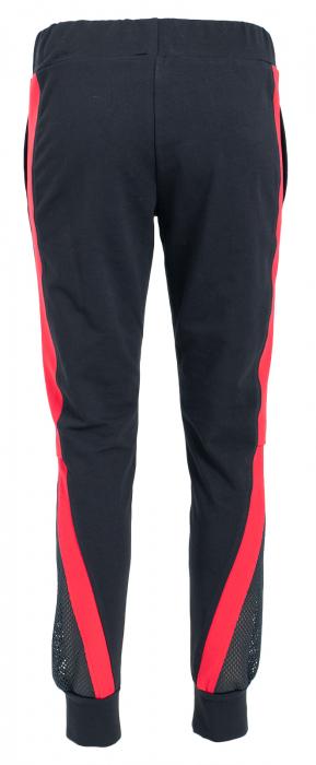 Pantalon dama negru cu dunga rosie 2