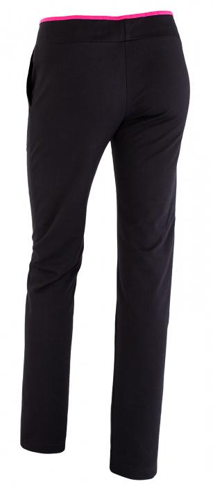 Pantalon dama bleumarin cu ciclam [2]