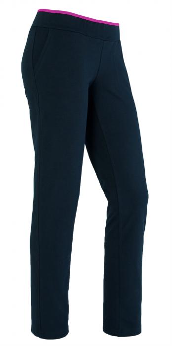 Pantalon bleumarin cu ciclam 0