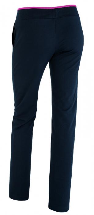 Pantalon bleumarin cu ciclam 2