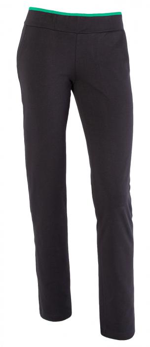 Pantalon dama negru cu verde 0
