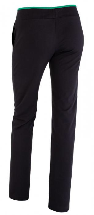 Pantalon dama negru cu verde 1