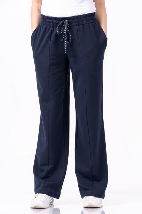 Pantaloni largi, design uni, culoare negru [3]