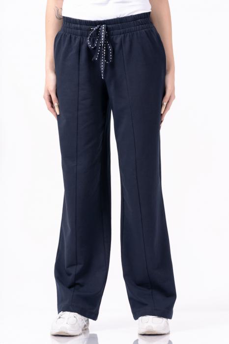 Pantaloni largi, design uni, culoare negru [2]