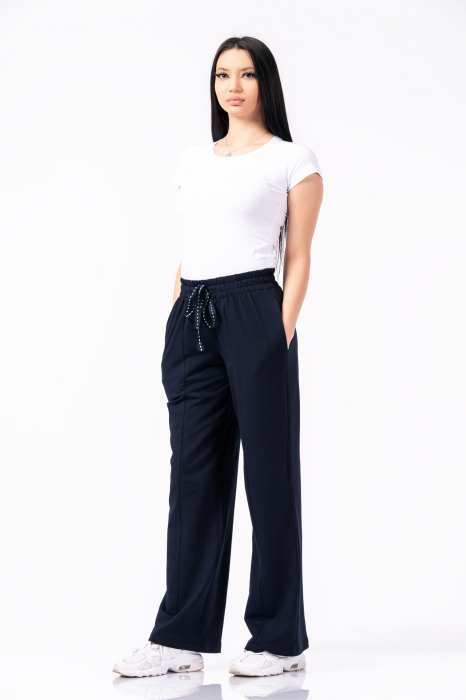 Pantaloni dama - Bleumarin [0]