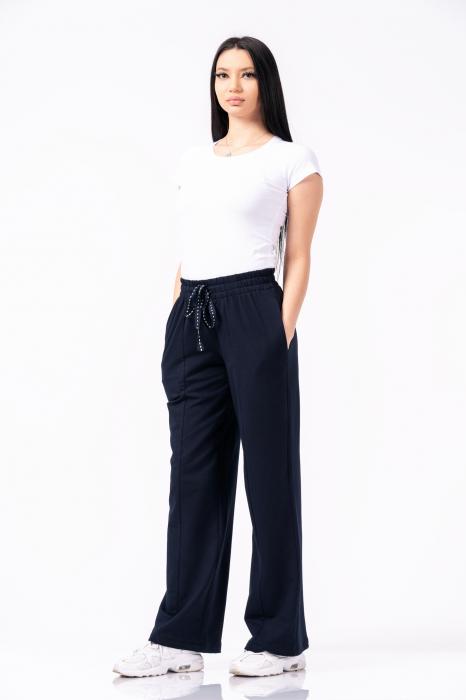 Pantaloni largi, design uni, culoare negru [0]