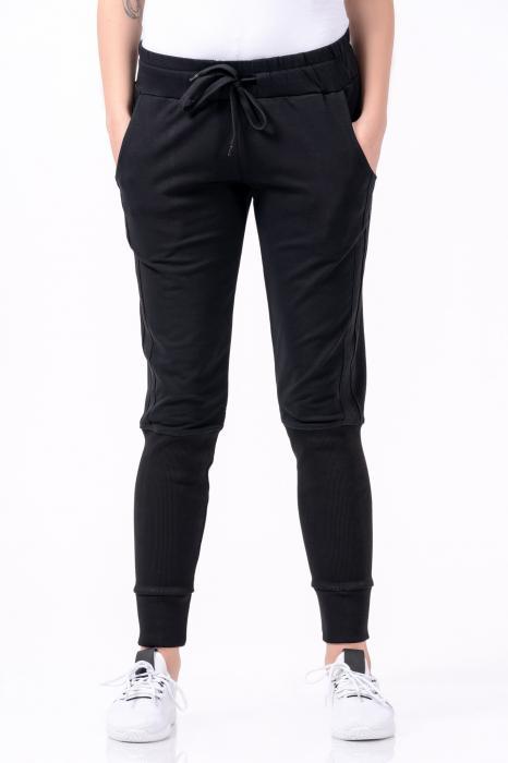 Pantaloni dama, Lazo Jogger, negru [1]