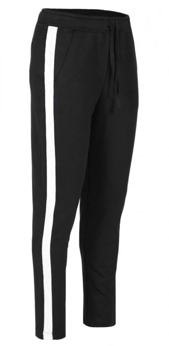 Pantaloni Dama LAZO AIR LINE, Negru cu Alb 0