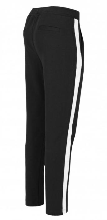 Pantaloni Dama LAZO AIR LINE, Negru cu Alb 1