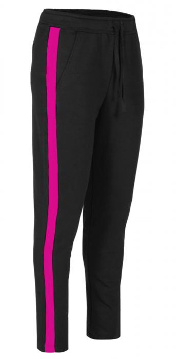 Pantaloni Dama LAZO LINE, Negru cu ciclam 0