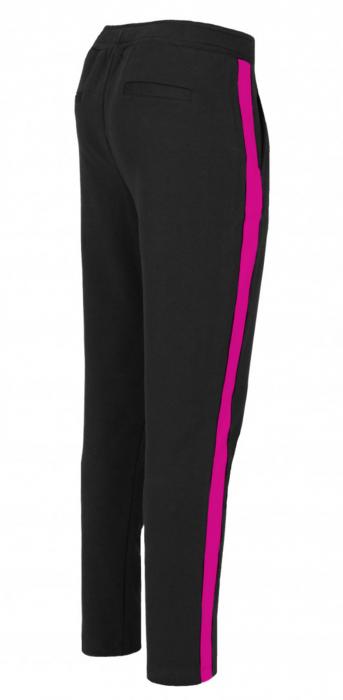 Pantaloni Dama LAZO LINE, Negru cu ciclam 1