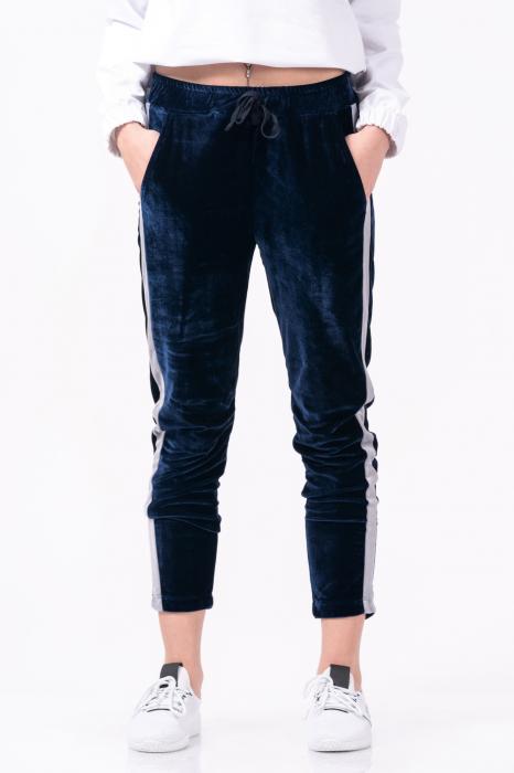 Pantaloni dama, Lazo Velvet , Bleumarin [1]