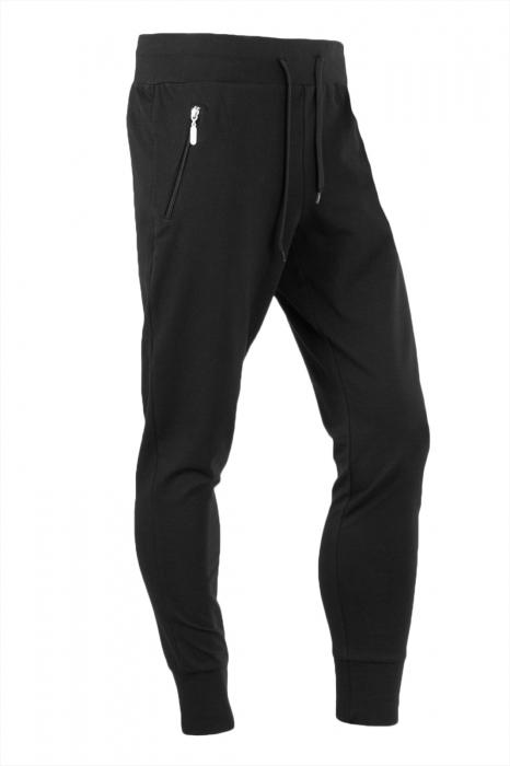 Pantaloni negru slim fit pentru barbati [0]