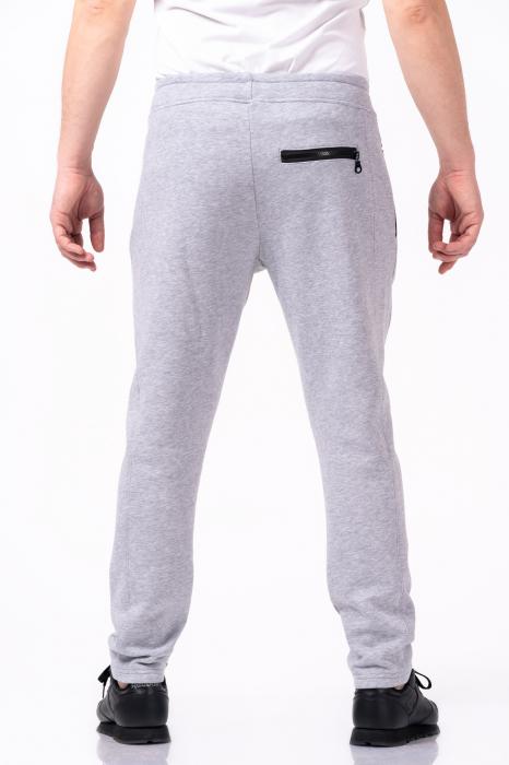 Pantaloni sport gri melanj 2