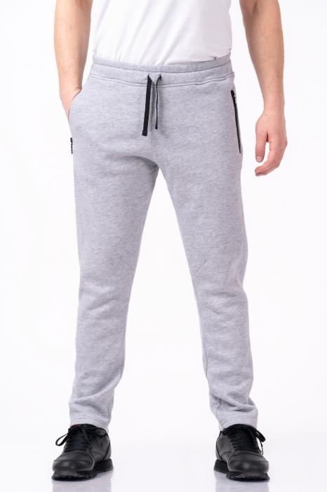 Pantaloni sport gri melanj 0