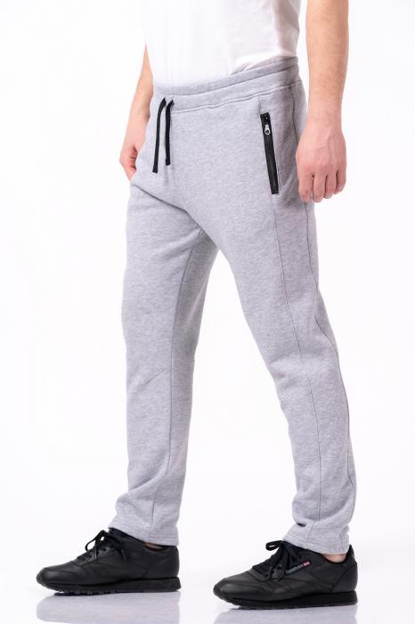 Pantaloni sport gri melanj 1