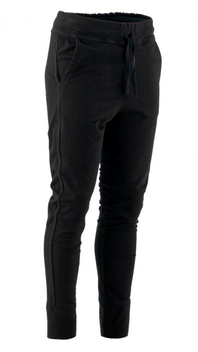Pantaloni sport cu tur, Kara, bumbac, negru 0
