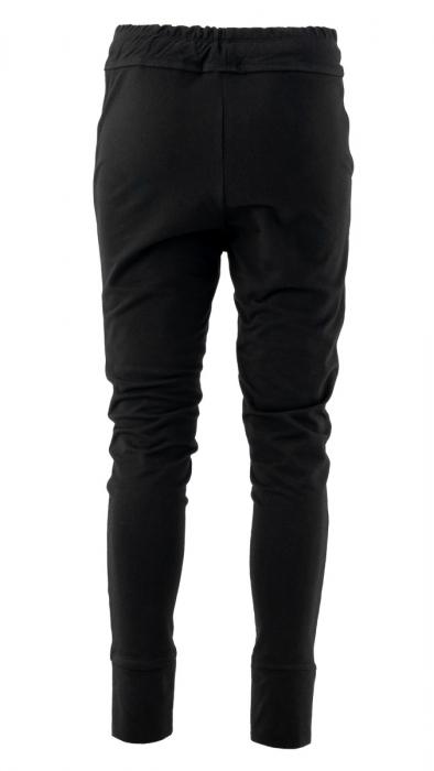 Pantaloni sport cu tur, Kara, bumbac, negru 1