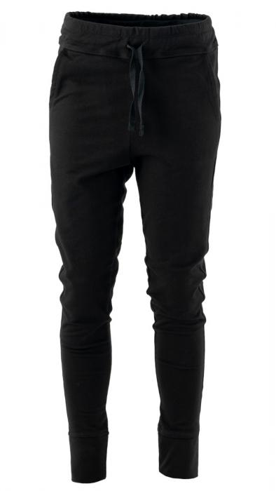 Pantaloni sport cu tur, Kara, bumbac, negru 2