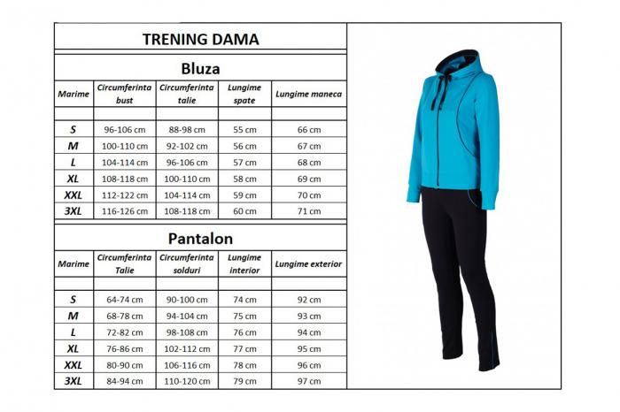 Trening Damă LAZO FLASH BLBN Bleu cu Bleumarin 3