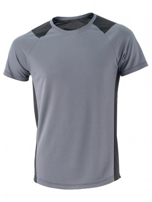 Tricou negru cu gri 0