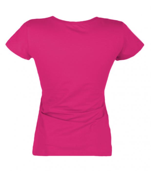 Tricou simplu ciclam pentru dama [2]