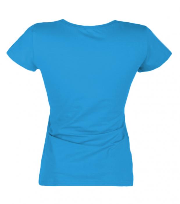 Tricou uni bleu dama [2]