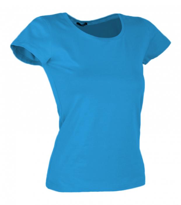 Tricou uni bleu dama [0]