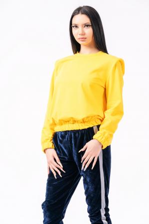 Bluză cu pernițe la umeri, galbena2