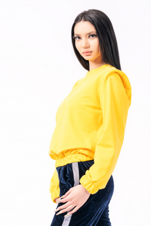 Bluză cu pernițe la umeri, galbena1